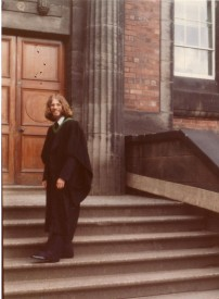 Simon Leather graduating Leeds 1977