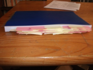 Thesis with post-its